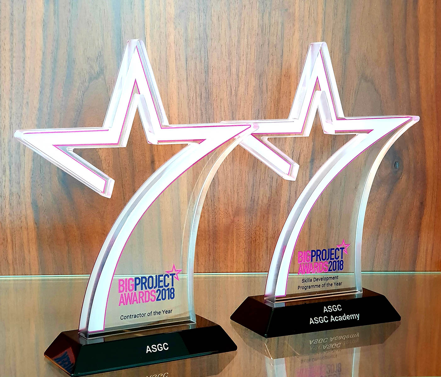Contractor of the Year Award 2018 & Skills Development Program of the Year Award 2018 By Big Project