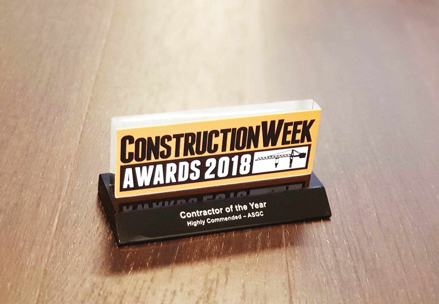 Contractor of the Year 2018 – Highly Commended by Construction Week