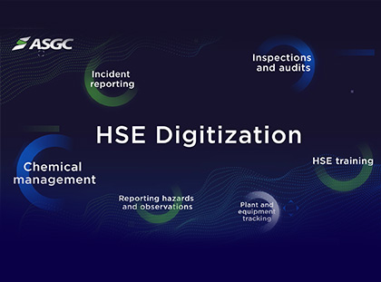 ASGC is pleased to announce that the HSE team launched a new HSE management software